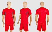 Футбольная форма Prestige CO-1008-R (PL, р-р M-2XL-44-50, рост 165-180см, красный-серый, шорты красные) КодCO-1008-R
