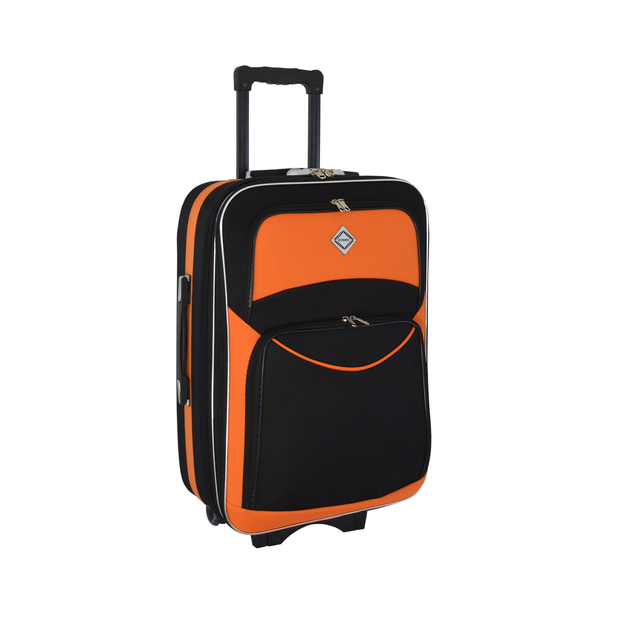 Чемодан Bonro Style (большой) черно-оранжевый