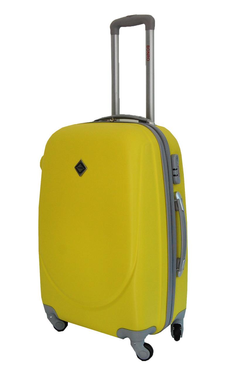 Чемодан Bonro Smile (большой) желтый
