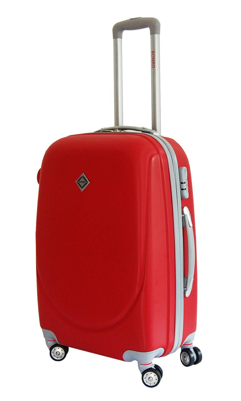 Чемодан Bonro Smile с двойными колесами (большой) красный