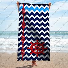 Полотенце пляжное Море - Канат - Штурвал 150*75 см банное Турция