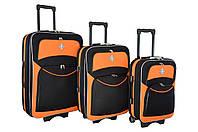 Чемодан Bonro Style набор 3 штуки черно-оранжевый, фото 1