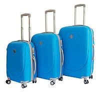 Чемодан Bonro Smile с двойными колесами набор 3 штуки голубой, фото 1