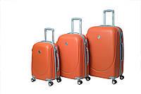 Чемодан Bonro Smile с двойными колесами набор 3 штуки оранжевый, фото 1