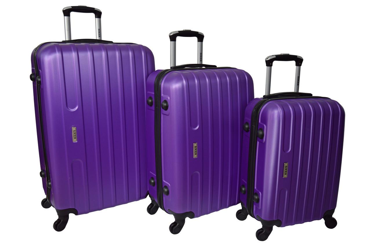 Чемодан Siker Line набор 3 штуки фиолетовый