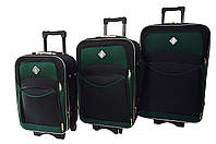 Чемодан Bonro Style набор 3 штуки черно-зеленый, фото 1