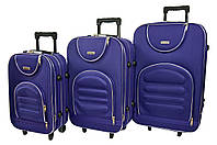Чемодан Siker Lux набор 3 штуки т.фиолетовый, фото 1