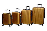 Чемодан Siker Line набор 4 штуки золотой, фото 1