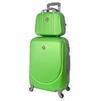 Комплект чемодан + кейс Bonro Smile (средний) салатовый, фото 1