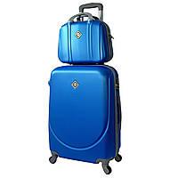 Комплект чемодан + кейс Bonro Smile (средний) светло синий, фото 1