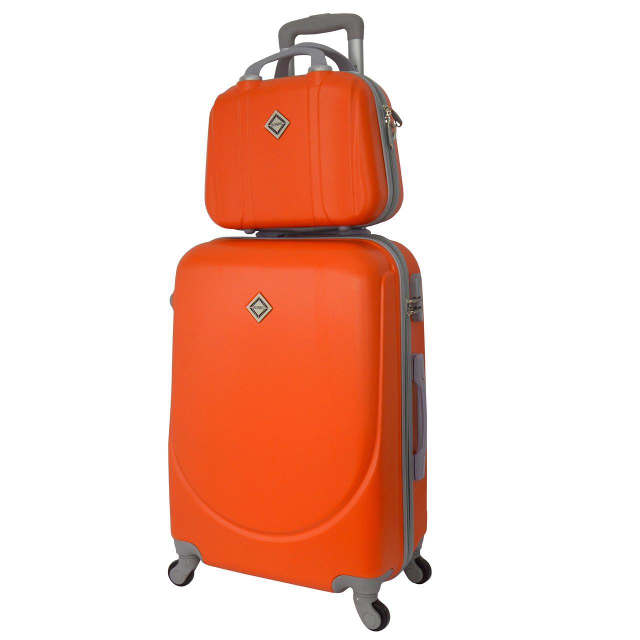 Комплект чемодан + кейс Bonro Smile (средний) оранжевый
