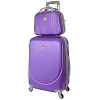 Комплект чемодан + кейс Bonro Smile (большой) фиолетовый, фото 1