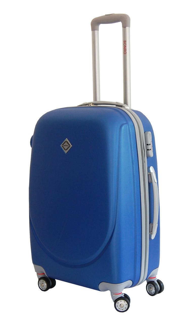 Чемодан Bonro Smile с двойными колесами (средний) синий