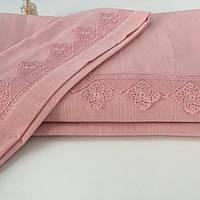 Постельного белье с кружевом Евро, Buldans Розовое