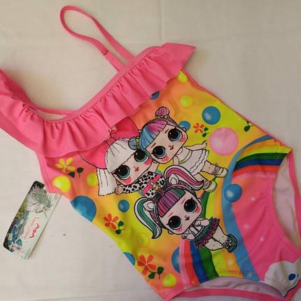 Купальник для девочек SAME GAME 647 розовый(есть 28 30 32 34 36 размеры), фото 2