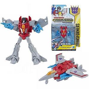 Робот-трансформер, Старскрим, Кибервселенная - Hasbro, Cyberverse, Warrior Class, Wing Slice, Starscream