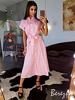 Коттоновое платье в горох , фото 1