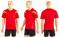 Футбольная форма Аcting CO-5402-R (полиэстер, р-р M-L-46-50, красный, шорты-черные) КодCO-5402-R