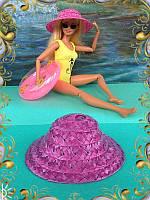 Шляпа для кукол малиновая (аксессуары для кукол)