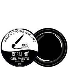 Rosalind Гель краска 5ml Тон 802 черная эмаль