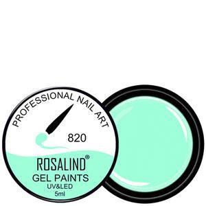 Rosalind Гель краска 5ml Тон 820 светлый дымно мятный эмаль, фото 2