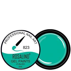 Rosalind Гель краска 5ml Тон 823 изумрудно зеленая эмаль
