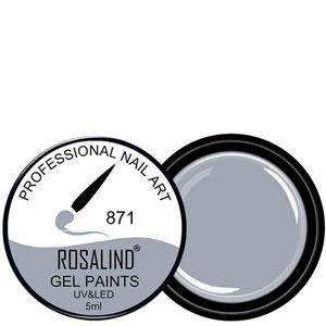 Rosalind Гель краска 5ml Тон 871 светло серая эмаль