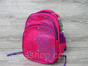 """Школьный рюкзак для девочек, """"Орнамент"""", спинка, S-образные лямки, 3 отдела"""