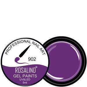 Rosalind Гель краска 5ml Тон 902 насыщенная фиалково фиолетовая эмаль, фото 2