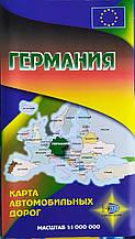 НІМЕЧЧИНА Карта автомобільних доріг 1 : 1 000 000