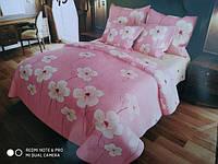 Постельное белье полуторка «Лейла» розового цвета