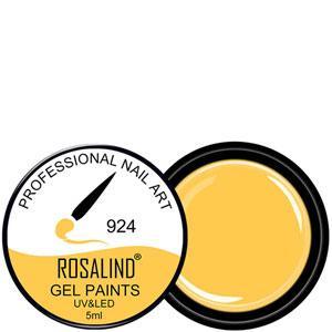 Rosalind Гель краска 5ml Тон 924 яркая оранжево желтая эмаль