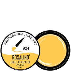 Rosalind Гель краска 5ml Тон 924 яркая оранжево желтая эмаль, фото 2