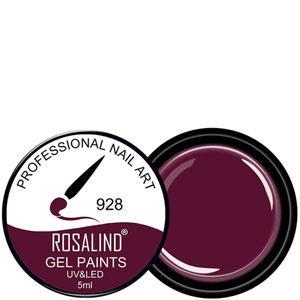 Rosalind Гель краска 5ml Тон 928 темно сливово вишневая эмаль