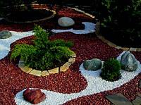 Декоративный цветной гравий шоколадная  (щебень, крошка) ландшафтного дизайна