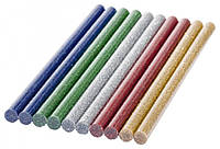 Клей декоративный, стержни цветные для клеевого пистолета 7мм, 10шт 80г