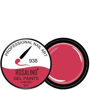Rosalind Гель краска 5ml Тон 938 бледно сливочно красная эмаль