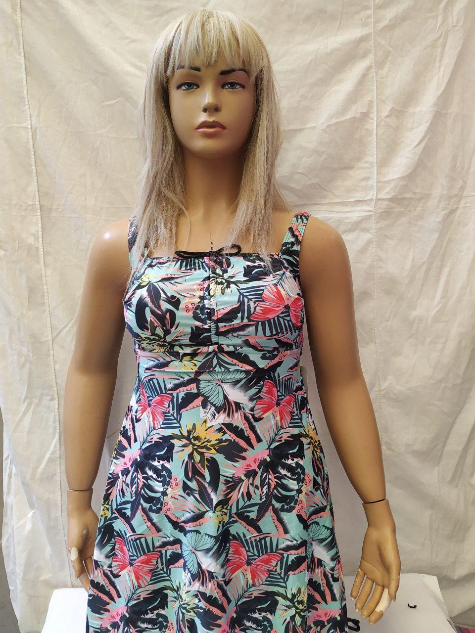 1Купальник- платье Танкини CARMELO 0946 Блеск белый(есть 52 56 58 60 размеры)