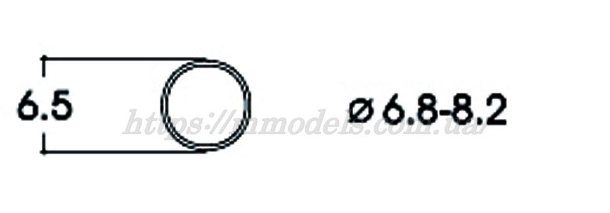 Roco 40067 тяговые шины для локомотивов 6.8-8.2 / 1:87 H0