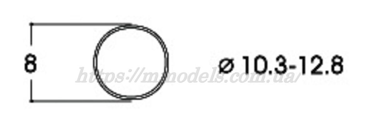 Roco 40069 тяговые шины для диаметров колес 10,3–12,8мм / 1:87 H0