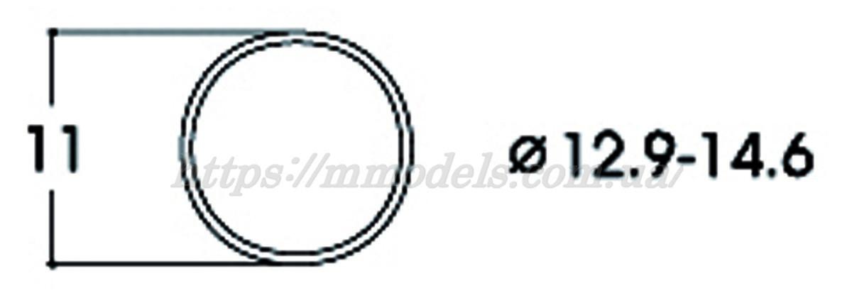 Roco 40070 тяговые шины для диаметров колес 12,9–14,6мм / 1:87 H0