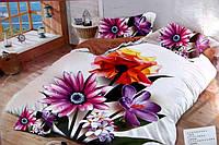 5D Двуспальное постельное белье East Comfort - полевые цветы