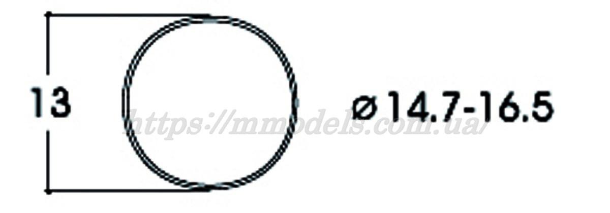 Roco 40071 тяговые шины для диаметров колес 14,7–16,5мм / 1:87 H0