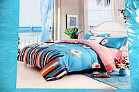 Сатиновое постельное белье Евро размера East Comfort краски