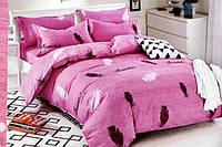 Сатиновое постельное белье Евро размера East Comfort перо