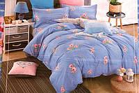 Сатиновое двуспальное постельное белье East Comfort весна