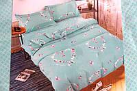 Сатиновое двуспальное постельное белье East Comfort сердечка