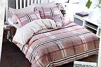 Комплект постельного белья Евро размера BAYUN - Клетка