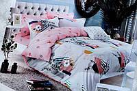 Комплект постельного белья Евро размера BAYUN розово-голубое
