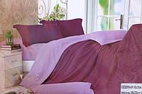 Сатиновое полуторное постельное белье Koloco фиолет